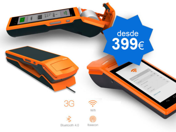 TPV Táctil portátil SUNMI Android con impresora - TPV Tactil Valencia